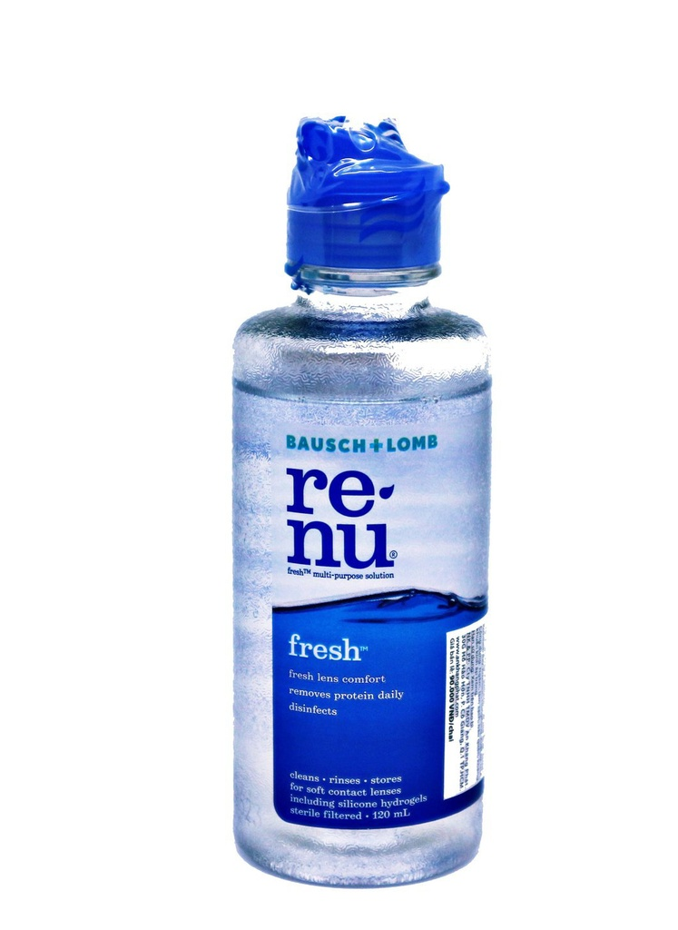 RENU contact lens cleaning solution